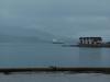 Bis das Postschiff um die Ecke kam - verspätet, weil man vorher noch im Trollfjord war