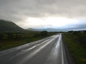 Morgenlicht auf der Straße nach Andenes