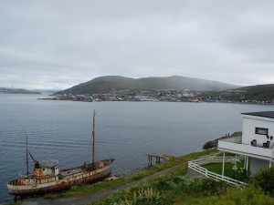 Blick auf Hammerfest und Melkøya