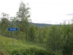Ortseingang Skaidi